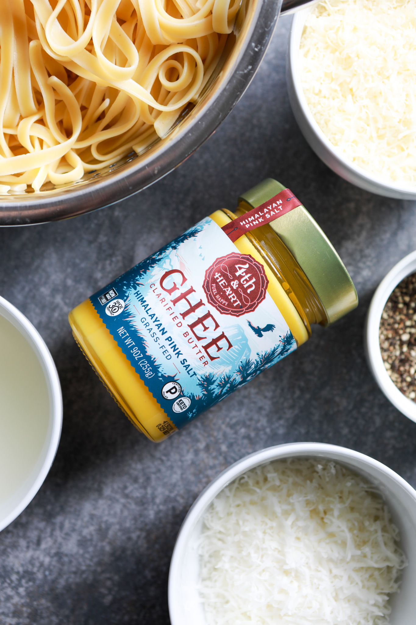 ghee, fourth and heart, pink salt
